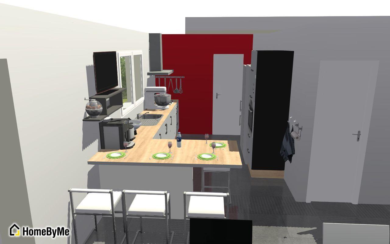 D but du vide sanitaire plan de la cuisine vacuations for Modelisation cuisine 3d