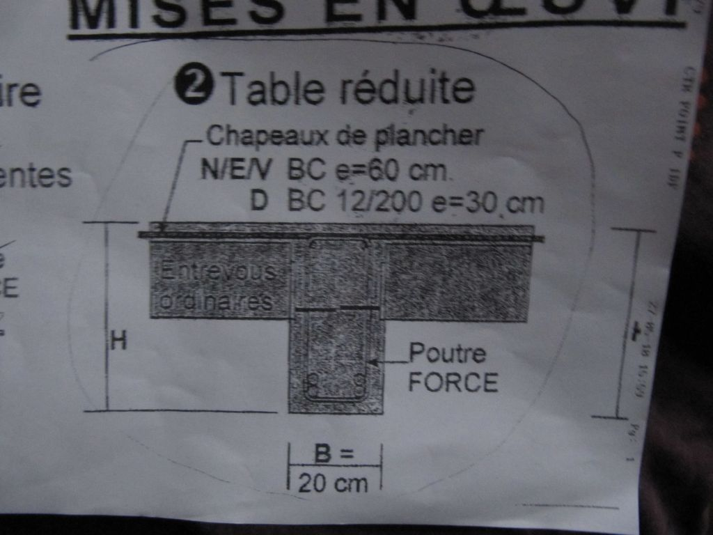 Table de compression reduite 6 messages - Table de compression plancher ...