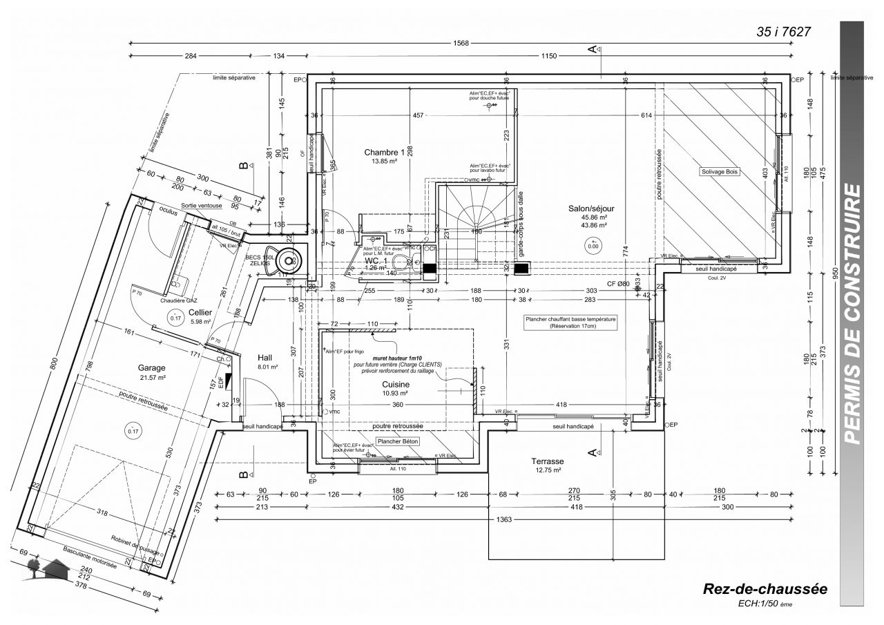 Plan suite parentale 18m2 for Suite parentale 18m2