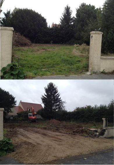 Ouverture chantier / abattage des arbres