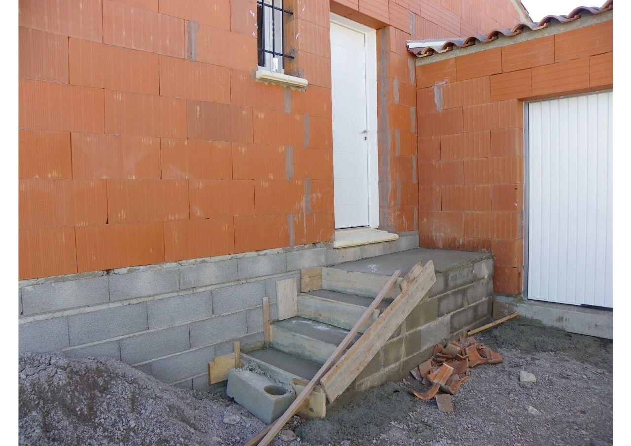 Escalier porte d'entrée