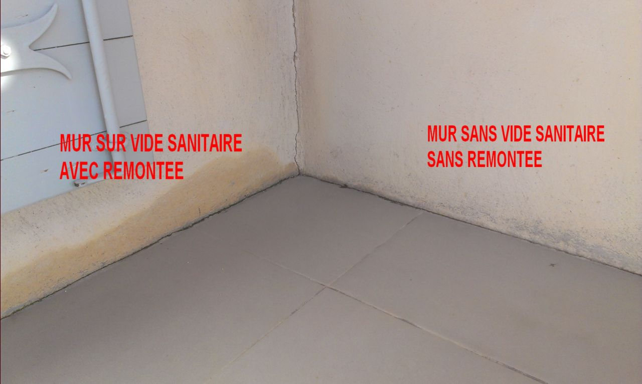 Remont e humidit sur fa ade cot terrasse 22 messages - Vide sanitaire humide ...
