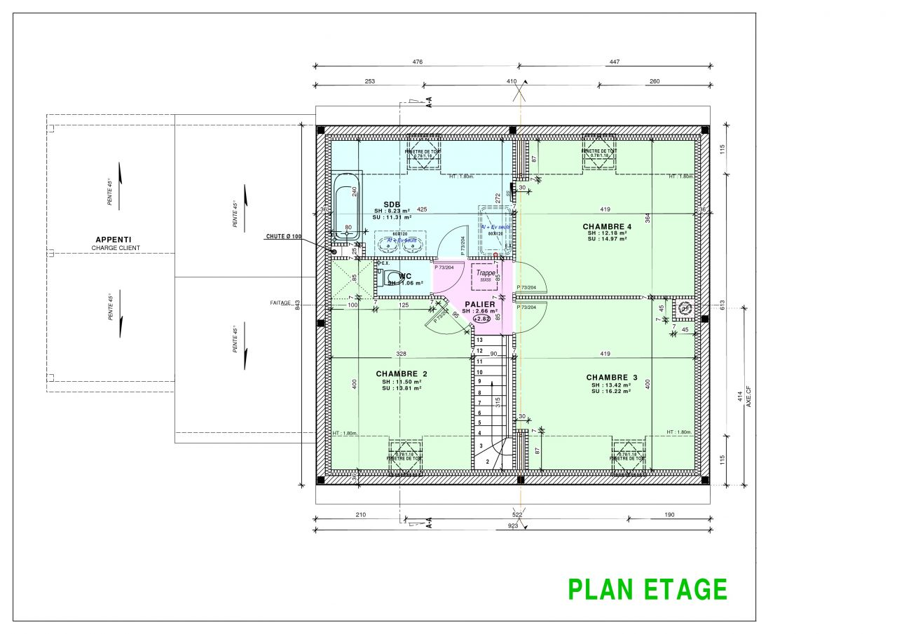 Plan étage