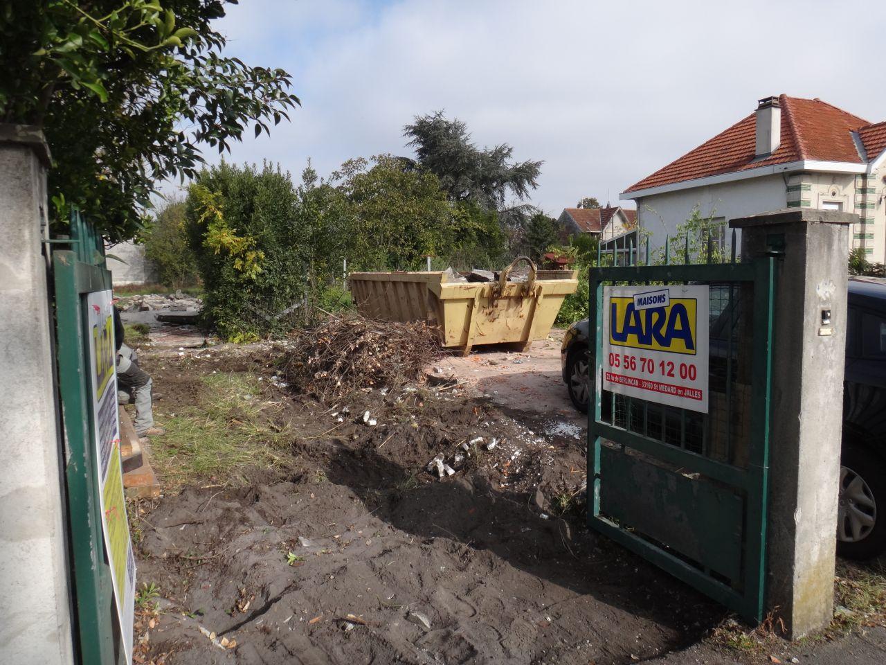 La facade apres deux jours de demolition