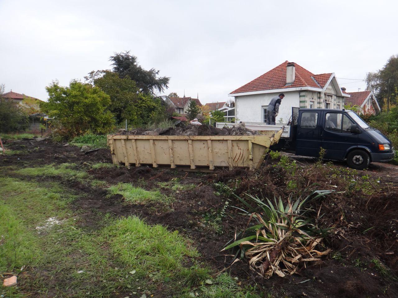 Le jardin au 3ieme jour de demolition