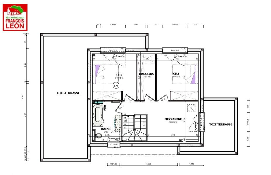 Notre maison moderne en bretagne finistere - Plan maison entree sud ...