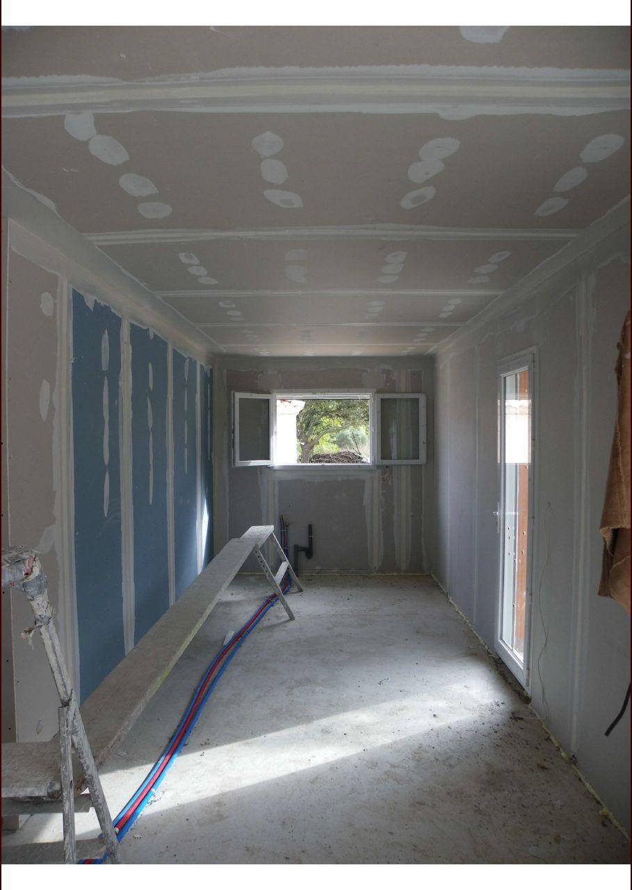 placo placo cloisons id e agencement cuisine le triadou herault. Black Bedroom Furniture Sets. Home Design Ideas