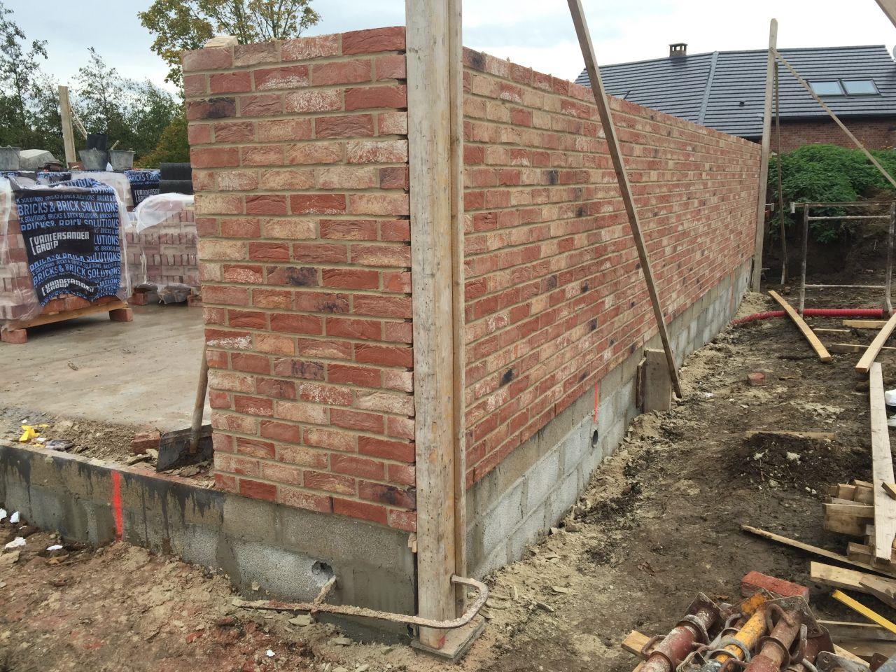 Double mur parpaing   brique. Brique Baroque et joint crème, tout ce qu'on aime