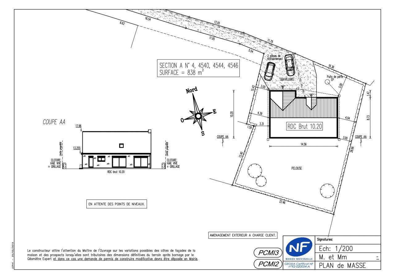 Altim trie permis de construire et r alit 47 messages - Un plan en coupe du terrain et de la construction ...