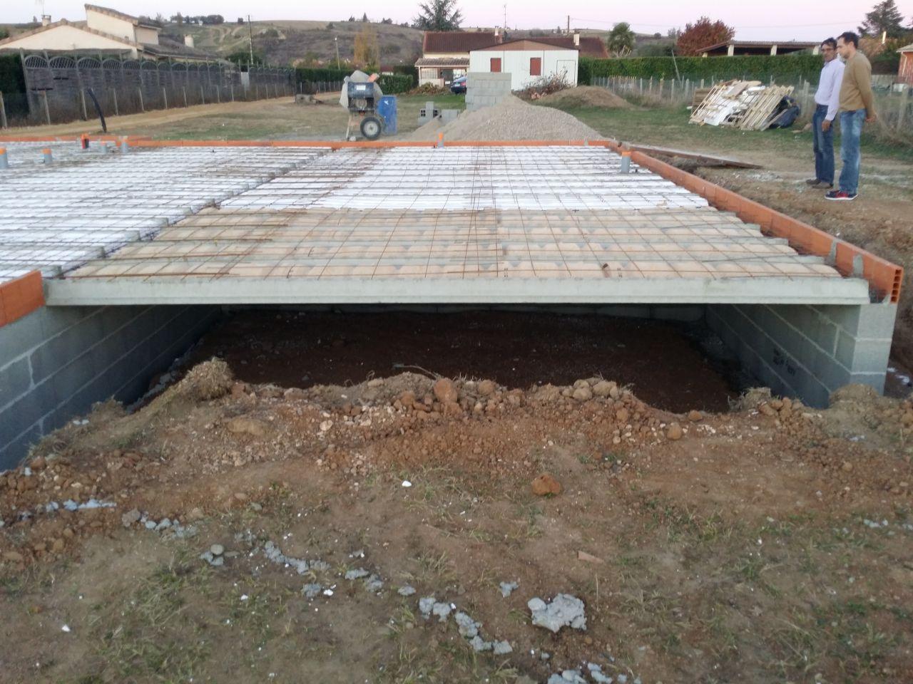 Comment Fabriquer Une Terrasse En Beton terrasse beton sur vide sanitaire