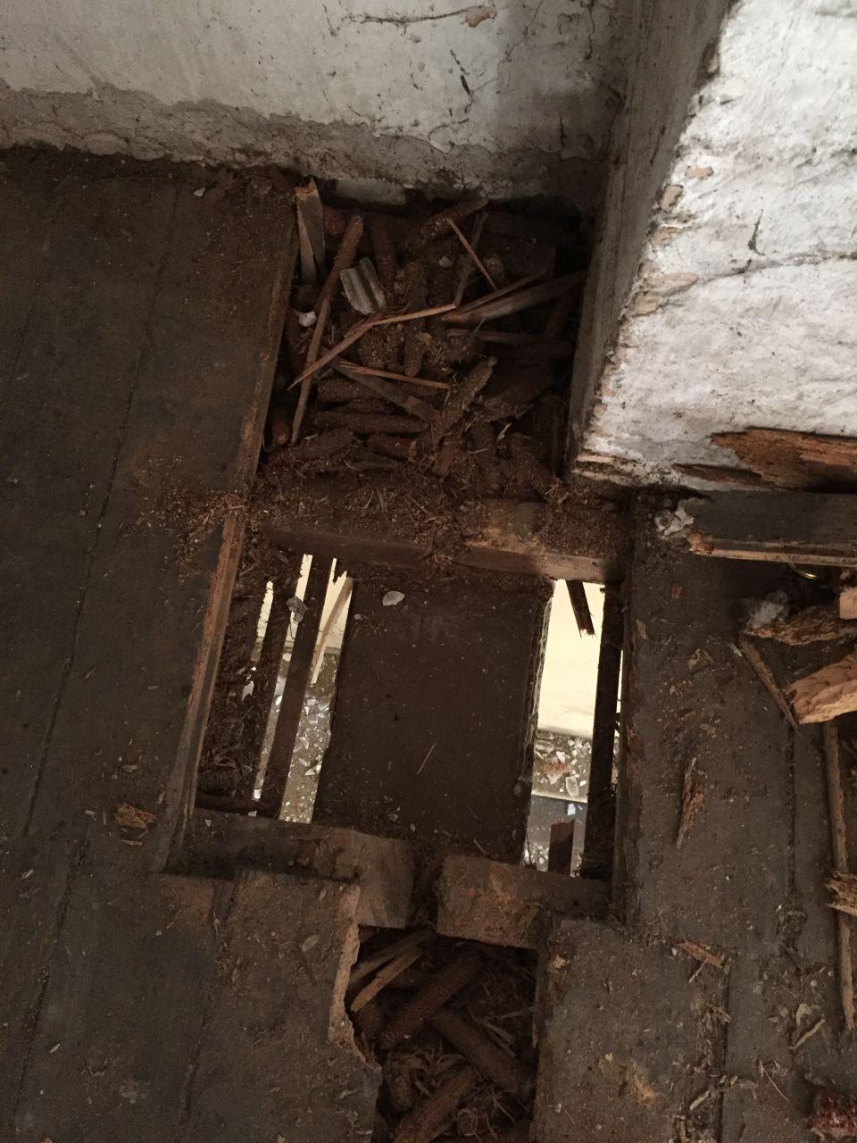 Sondage des planchers pour connaitre l'état et les possibilités pour abattre les murs du rdc