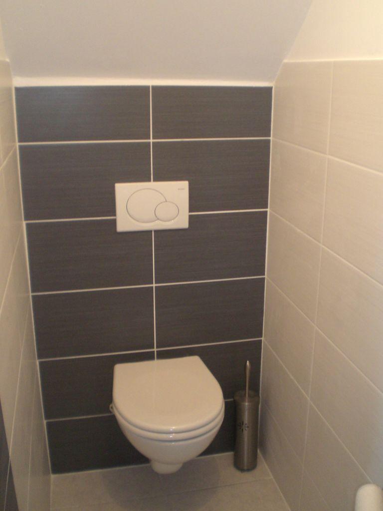 Carrelage wc mural perfect wc suspendu geberit reste for Carrelage mural toilettes