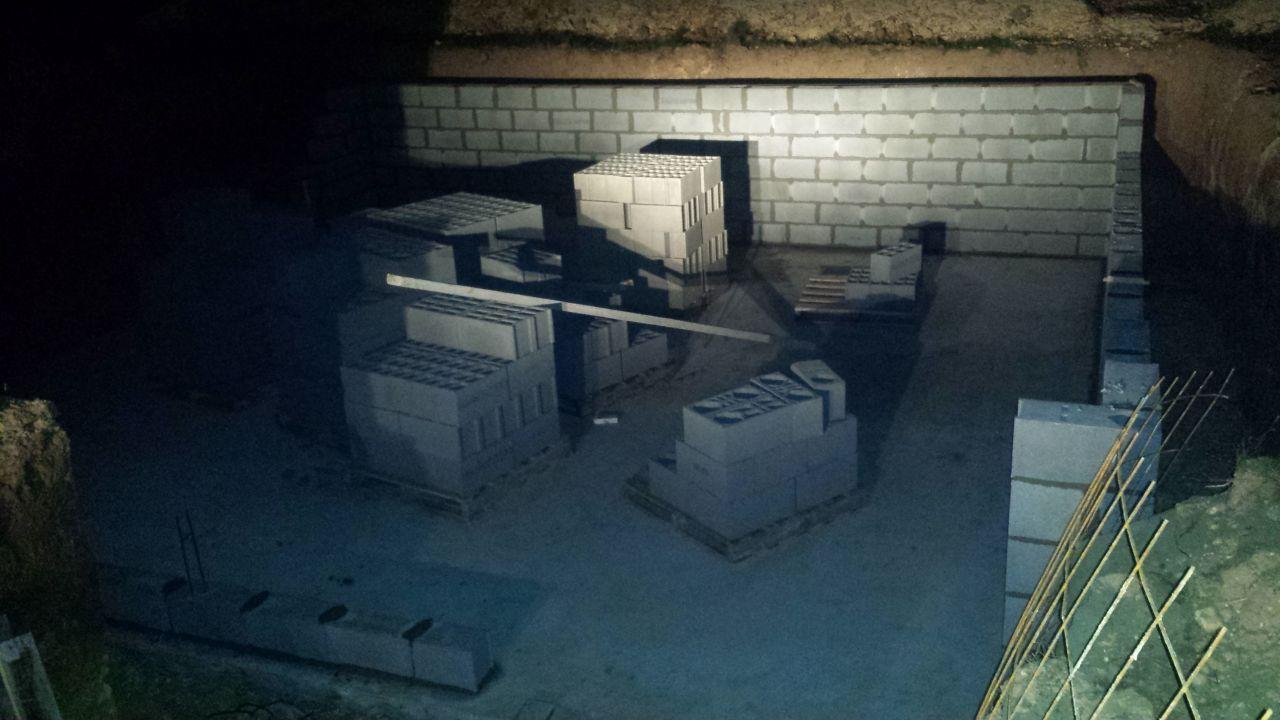 Elévation des murs du sous sol