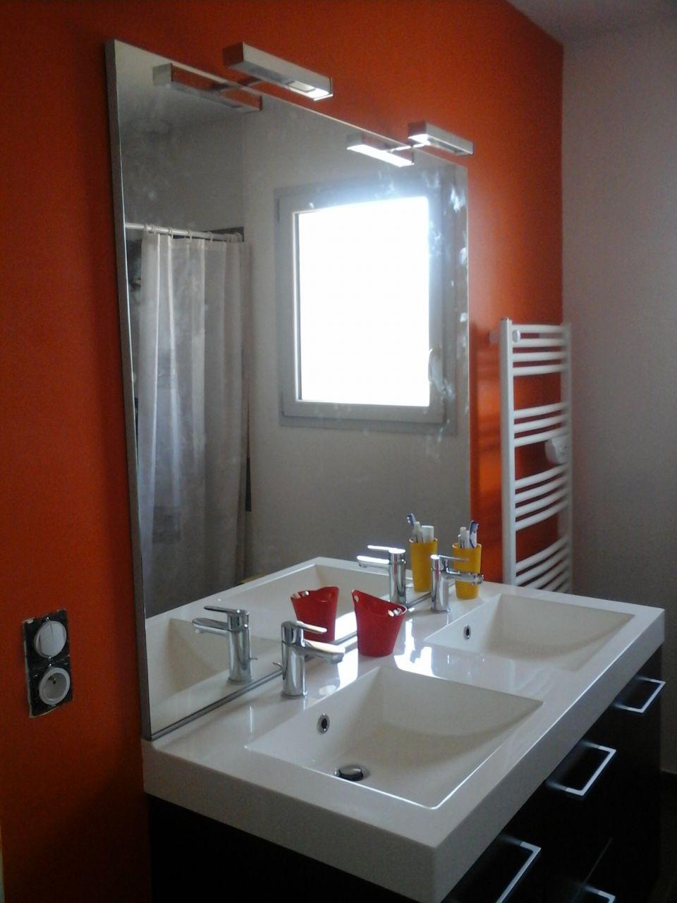 fin d'installation du meuble salle d'eau