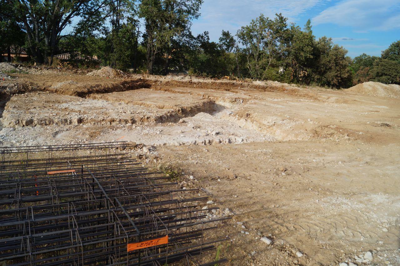 Terrassement pour les fondations