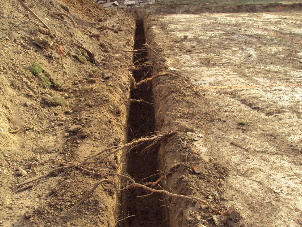 fondations creusés
