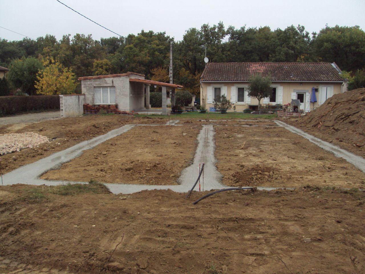 fondations terminé et maintenant séchage