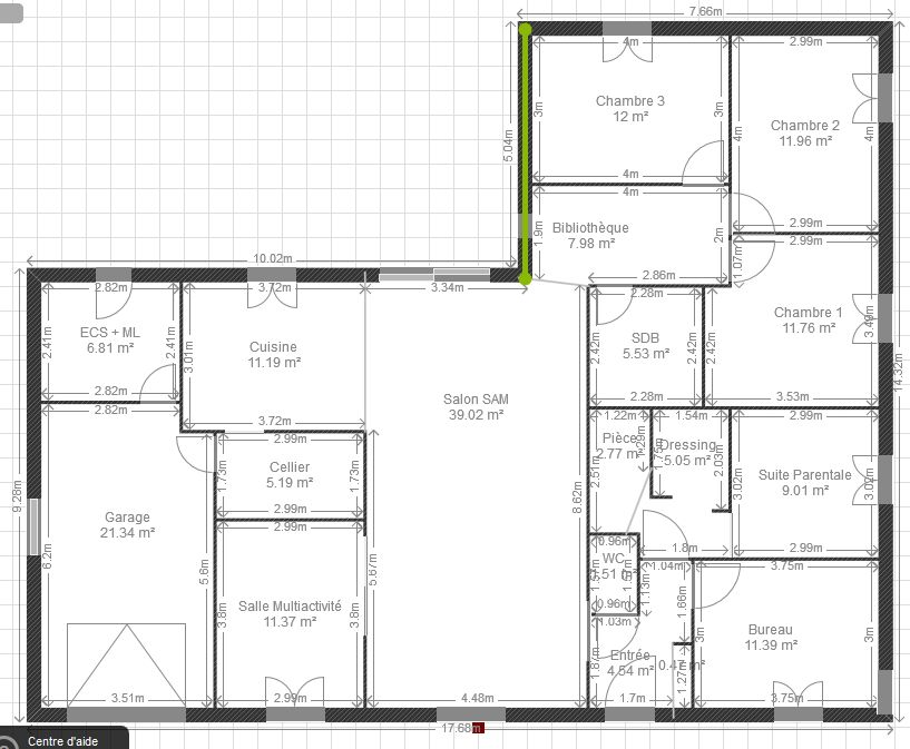 Plan de maison plain pied 200m2 for Plan de maison 200m2
