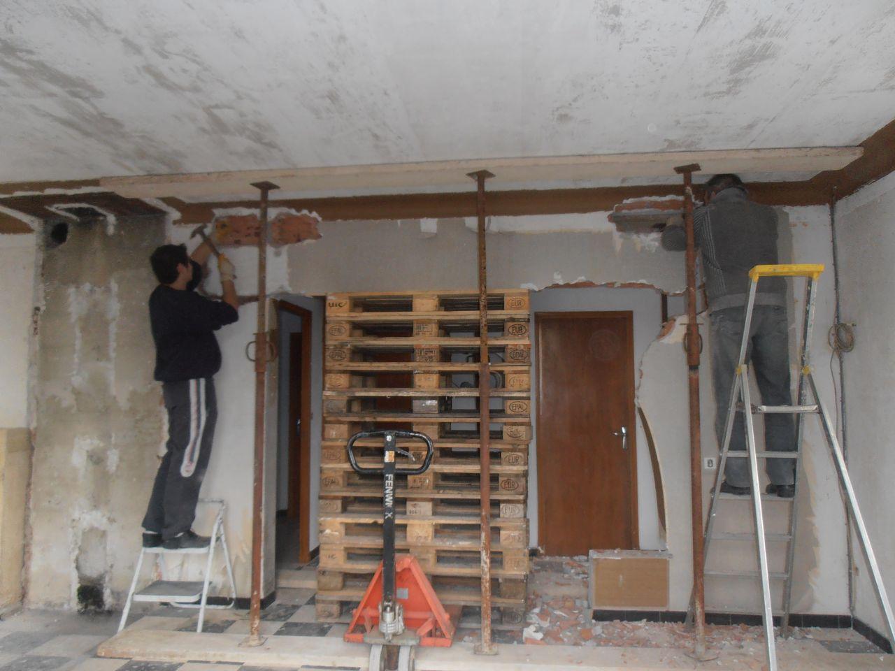 ouvrir un mur porteur prix fabulous la ralisation duune ouverture de mur porteur with ouvrir un. Black Bedroom Furniture Sets. Home Design Ideas