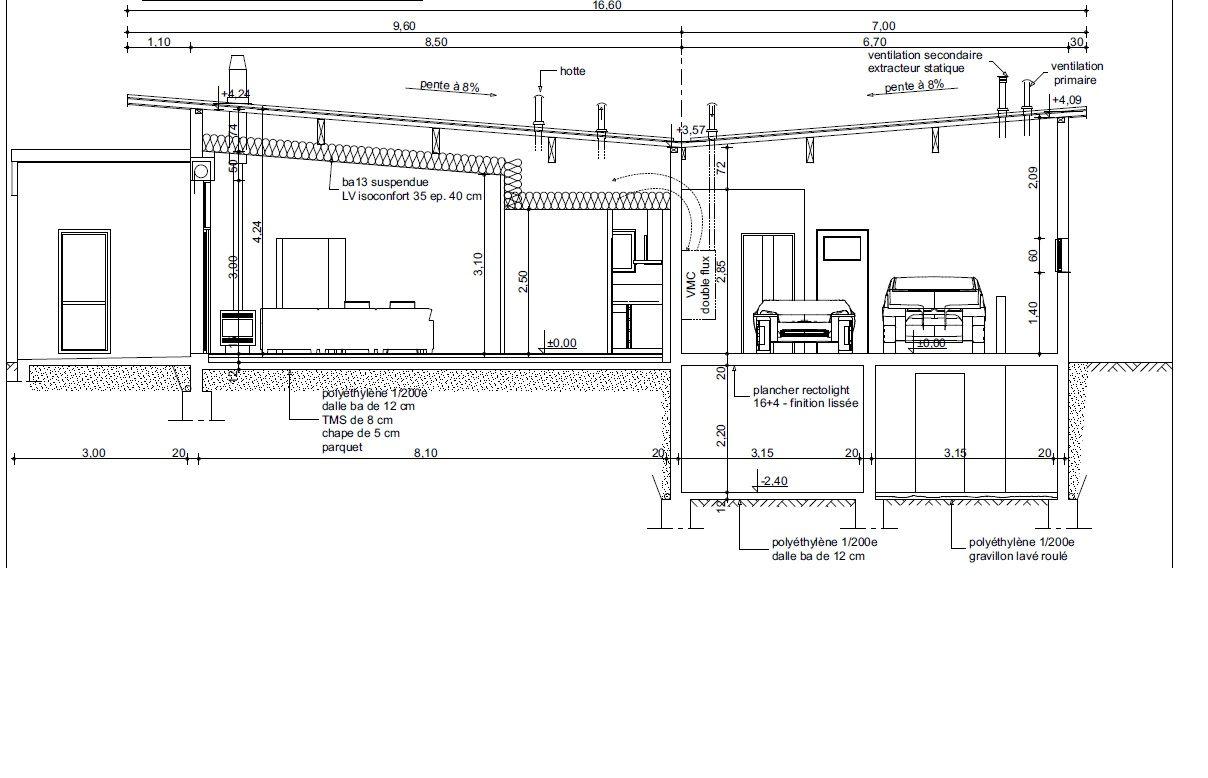 Voici le plan retenu pour le dépôt du permis de construire. <br />  <br /> 30/11/2015 >>>>>>>>> PC déposé en mairie ce matin. Attendons la réponse sous 2 à 3 semaines. Croisons les doigts !!!