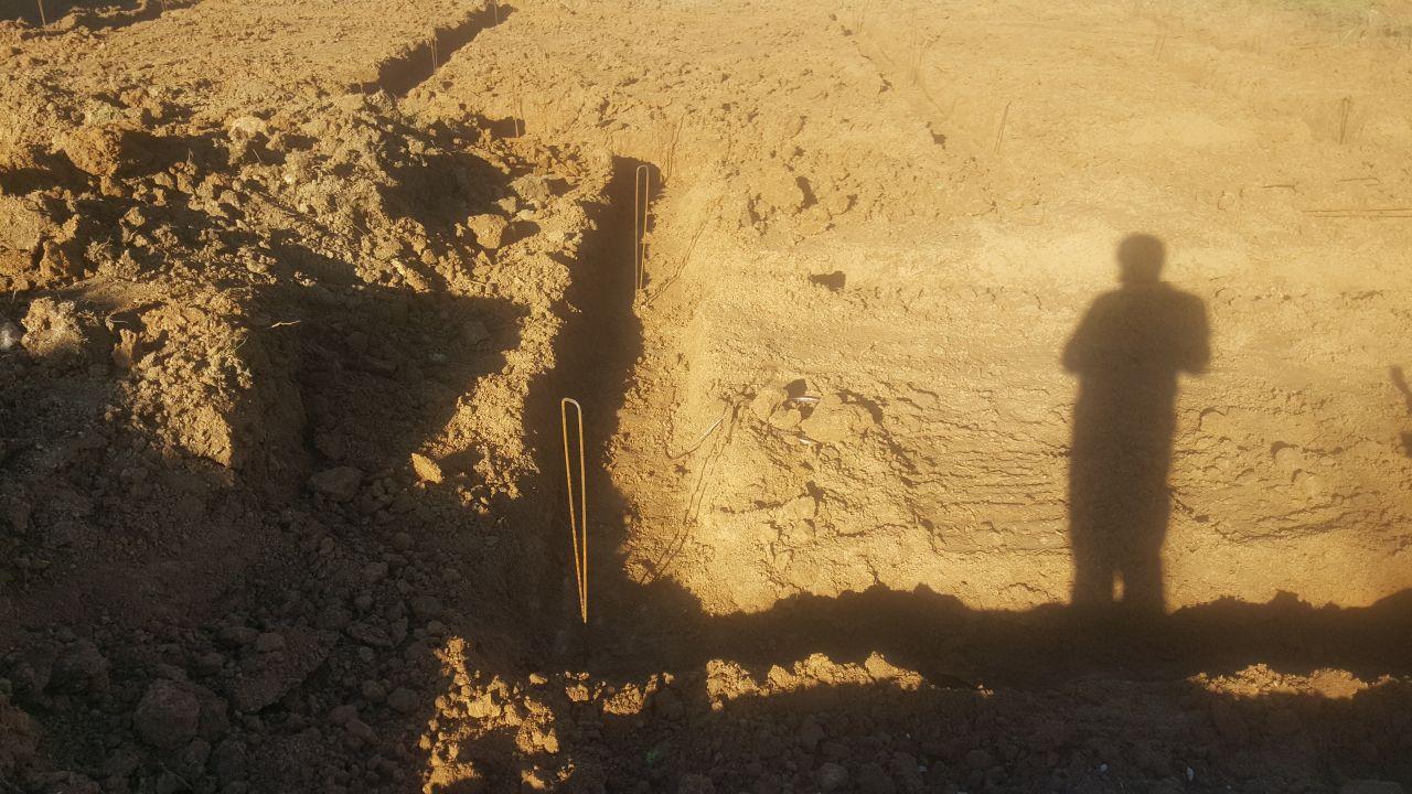 terrassement terminé en attente du coulage des fondations