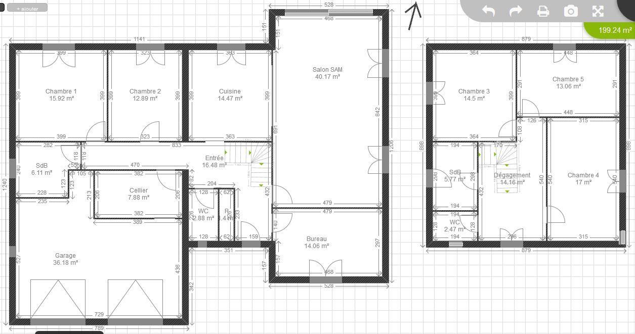 Plan maison plain pied 200m2 plan de la maison 2 plan for Plan de maison 200m2