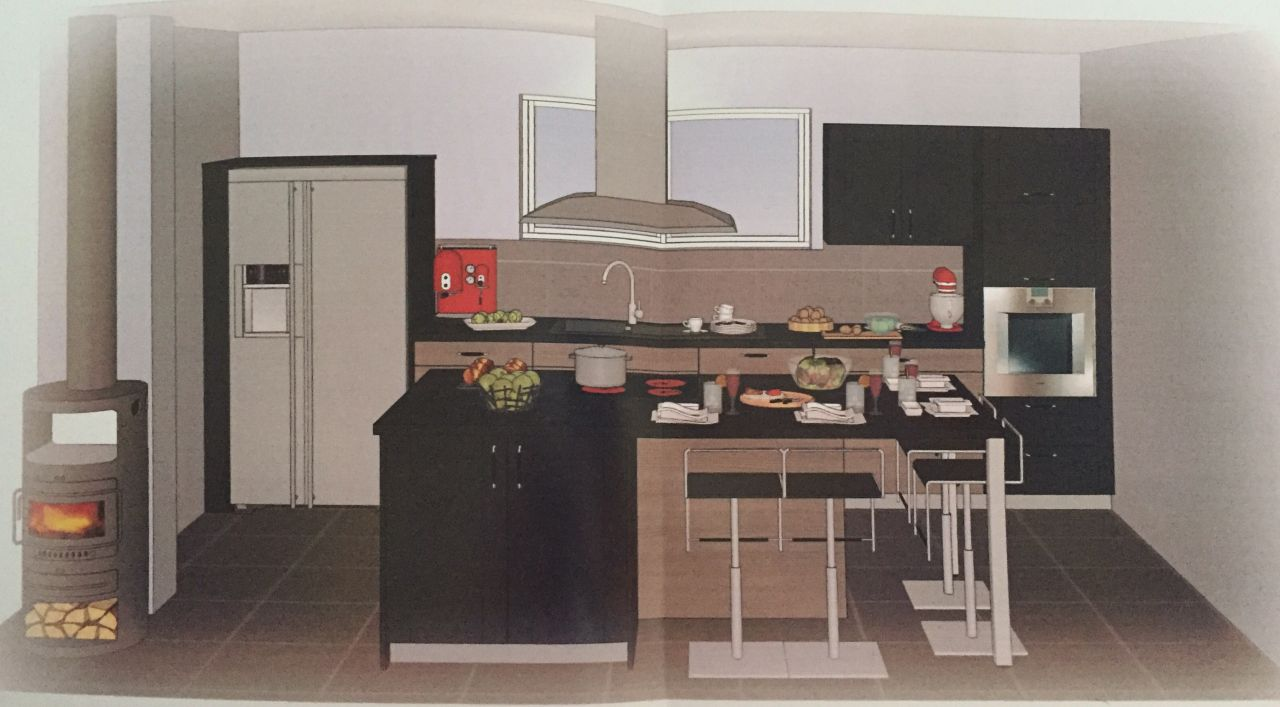 Notre futur nid dans le sundgau haut rhin - Cuisine style americain ...