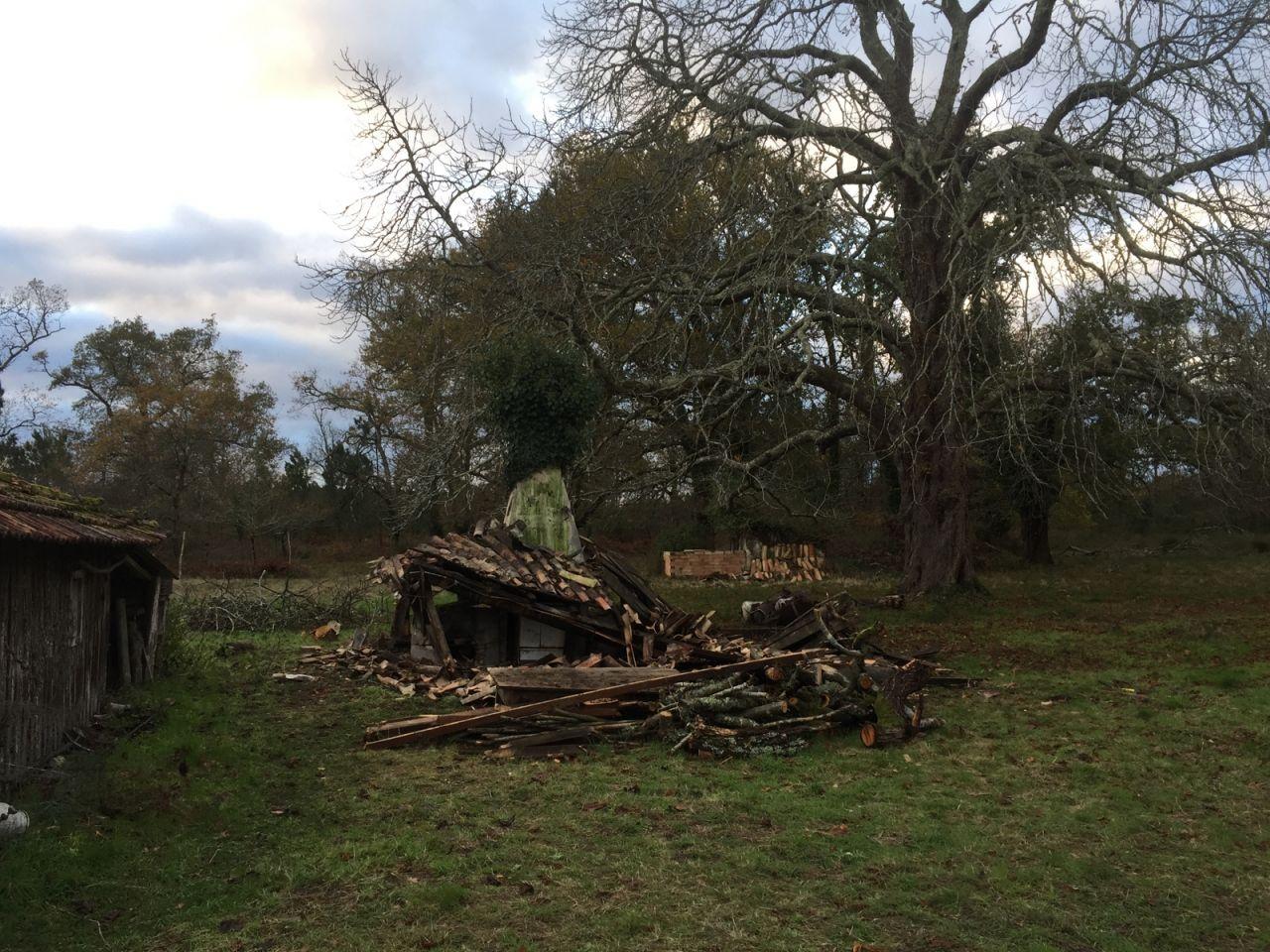 Déconstruction de la petite cabane pouuuum!