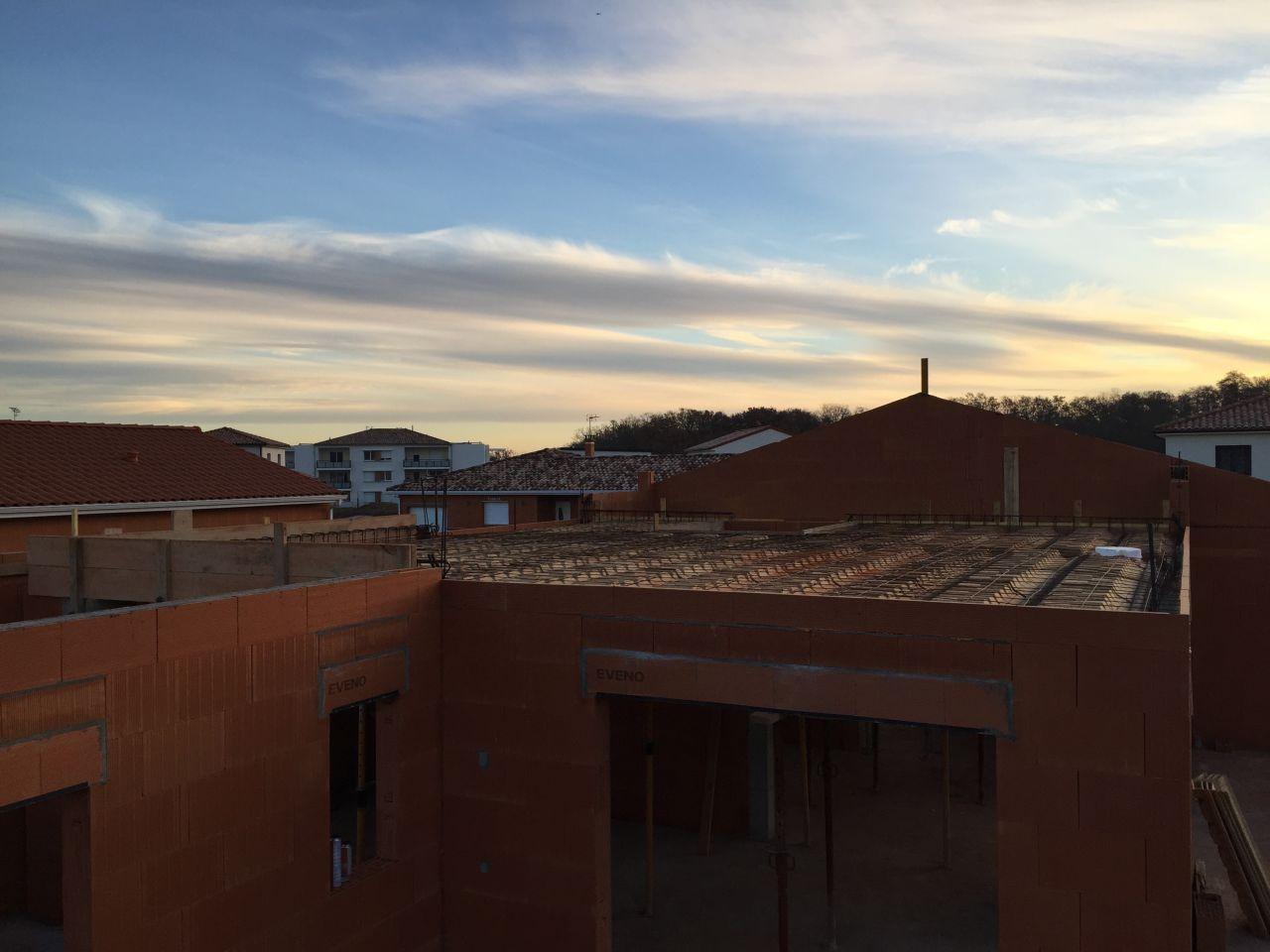 Préparation de l'étage - En attente de béton