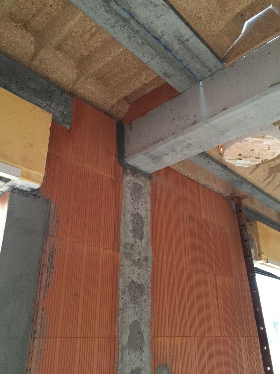 Préparation de l'étage - Poutre béton