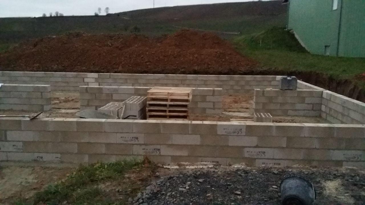 murs du vide sanitaire terminés