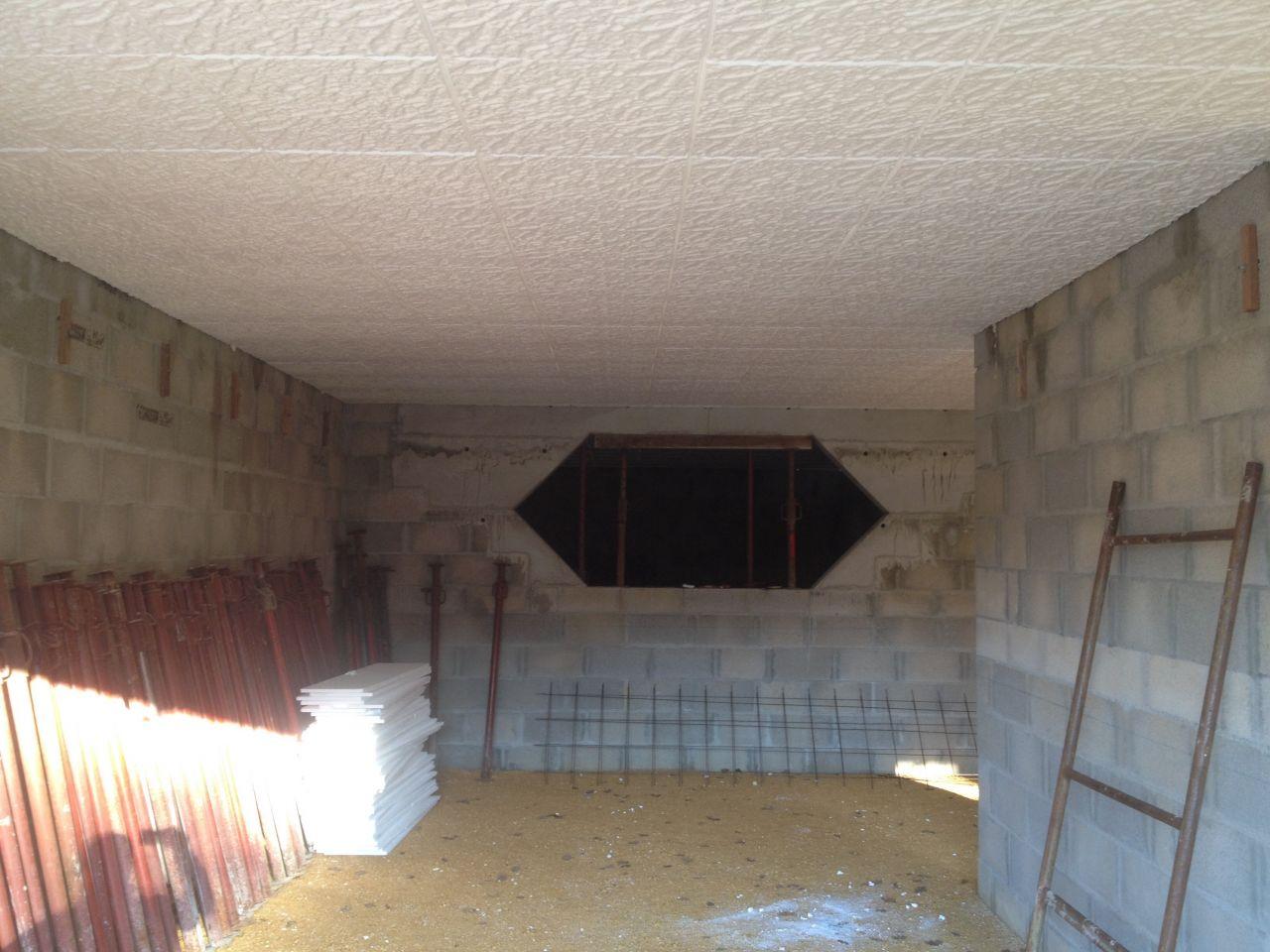 ferraillage mur de soutenement mise en place du plancher coulage dalle rdc st pierre de. Black Bedroom Furniture Sets. Home Design Ideas