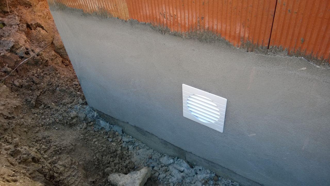 Bouche de ventilation du vide sanitaire