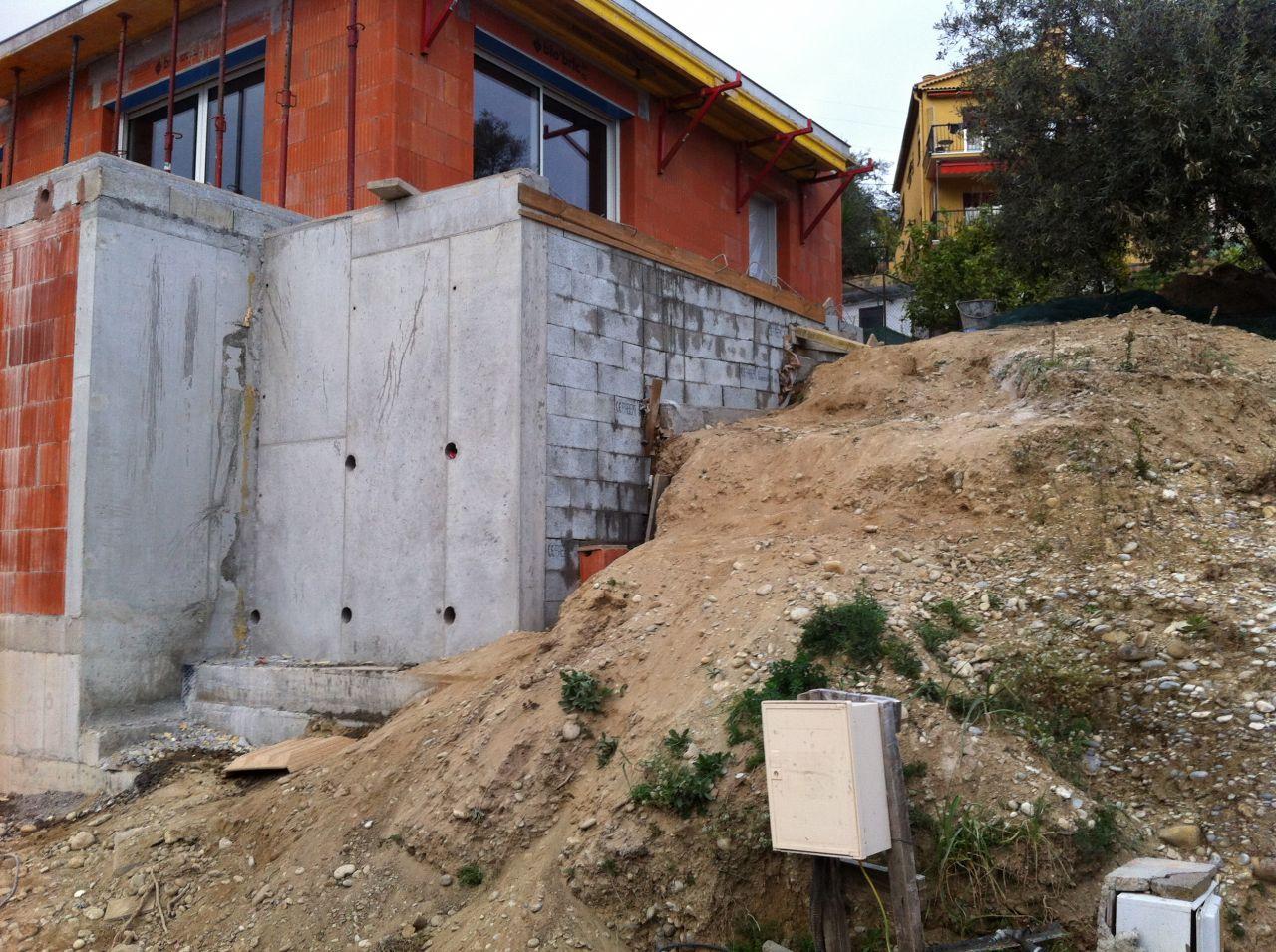 Mur complémentaire de la terasse