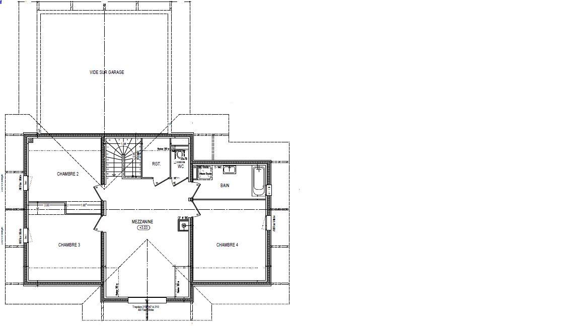 Le plan du 1er étage... reste une petite modification à prévoir