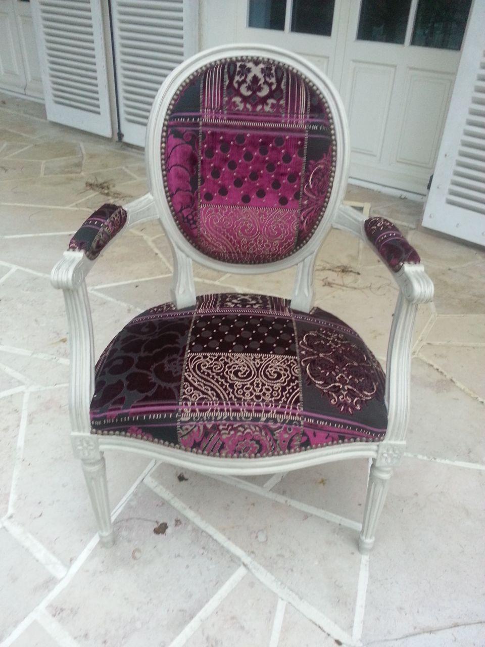 fauteuil médaillon après
