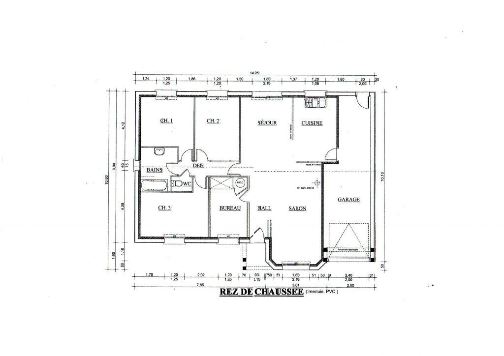 Mur du garage en biais cause du terrain votre aide for Plan de maison facade