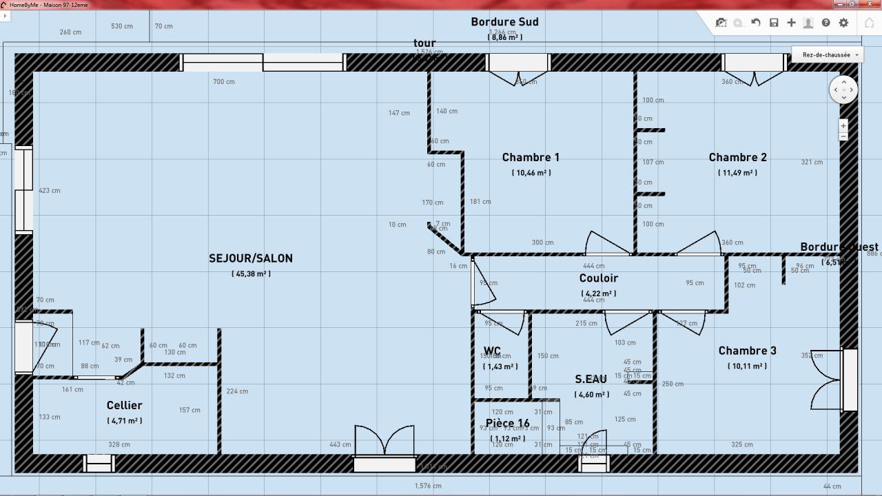 Plan 2D de la maison