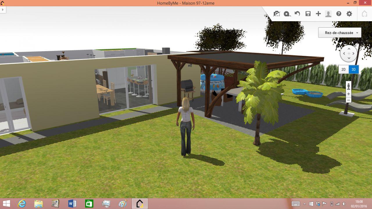 3D terrasse couverte ouest