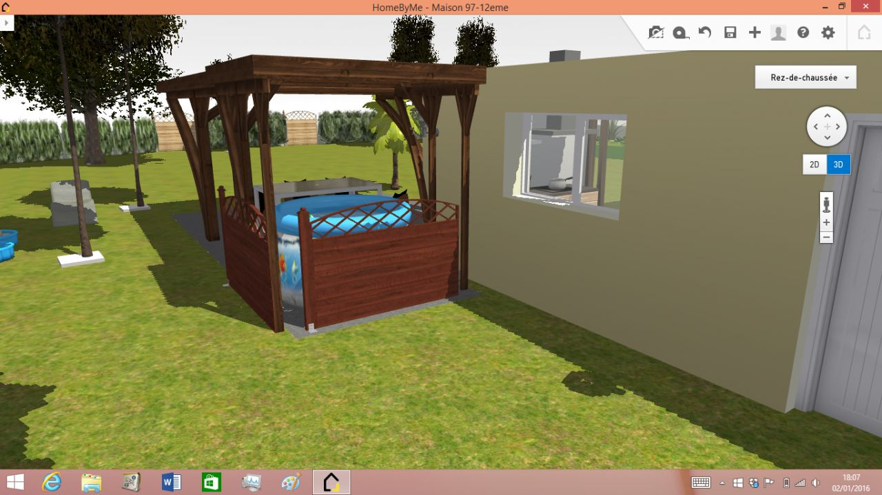3D terrasse couverte nord