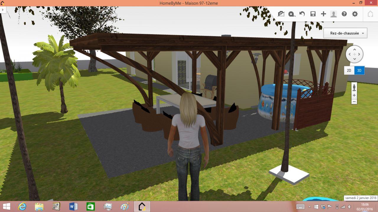 3D terrasse couverte Est