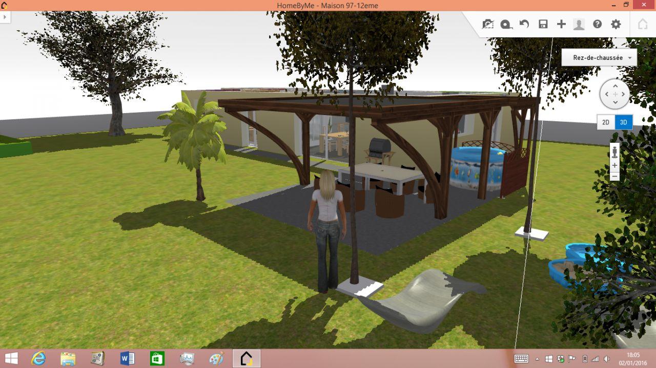 3D terrasse couverte Sud Est