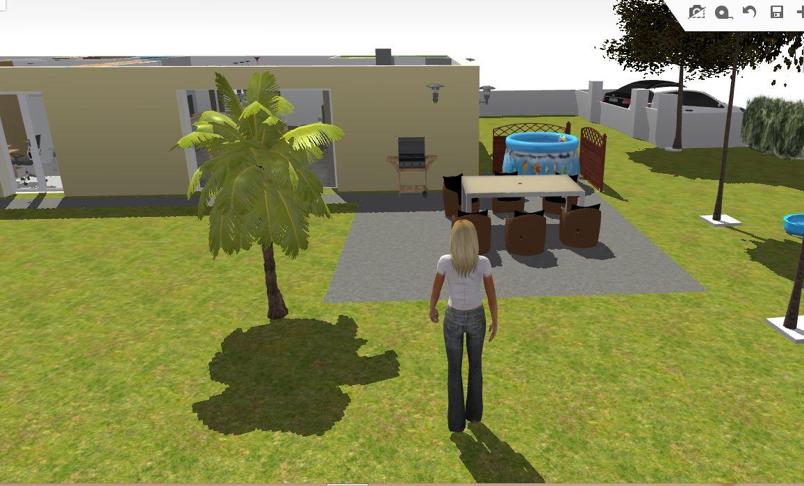 3D terrasse nue Sud