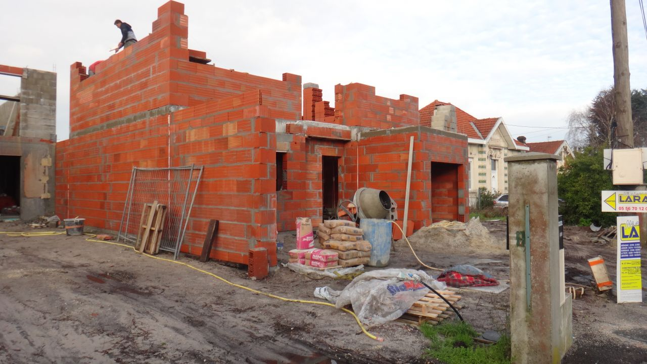 elevation des murs du premier etage 2ieme jour