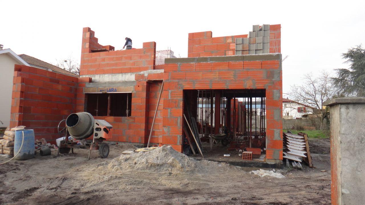 elevation des murs du premier etage 3ieme jour