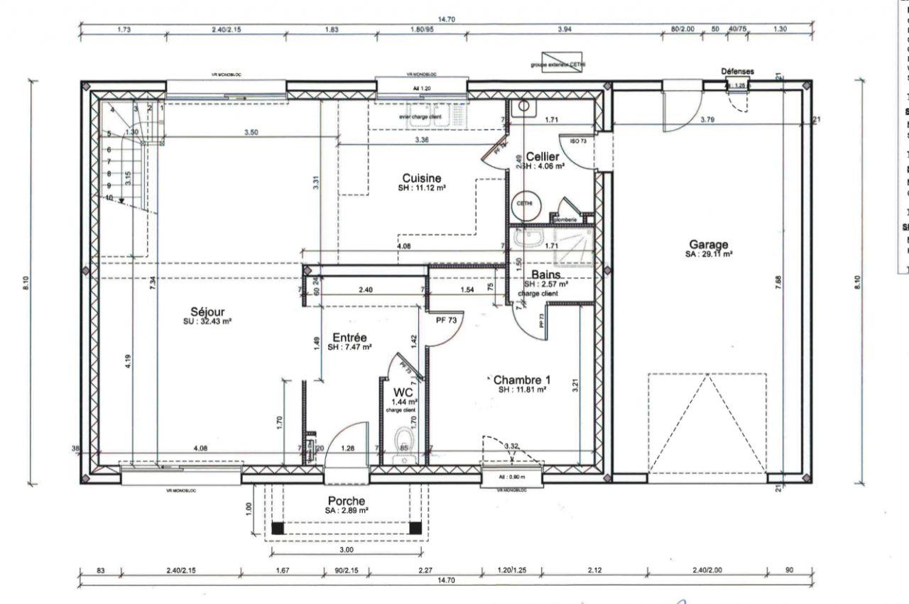 Avis plan pour tage avec 4 chambres dont suite parentale for Plan suite parentale 12m2
