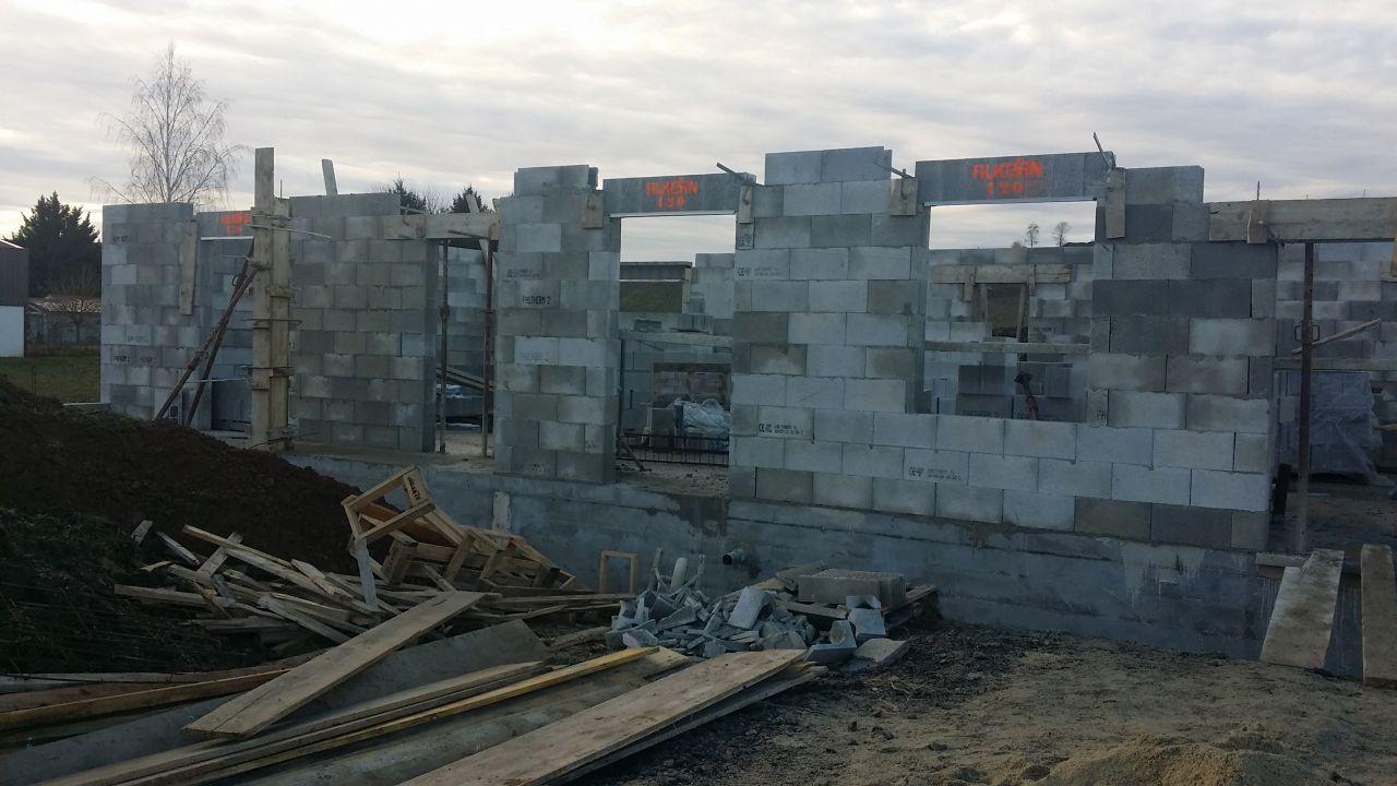 élévation des murs - façade avant