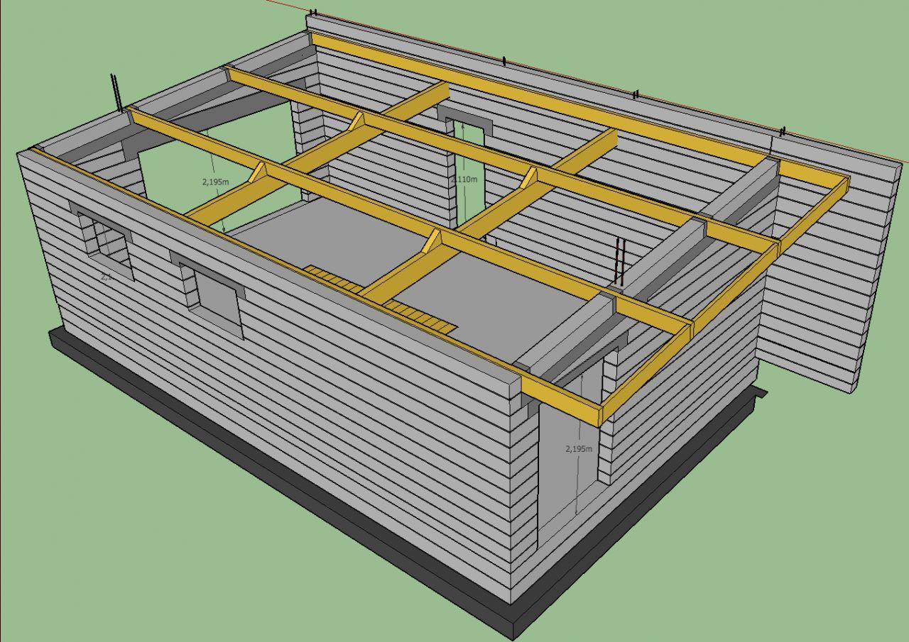 """2ème idée pour la charpente du garage suite à un avis de """"Kauffmann Ludovic"""""""