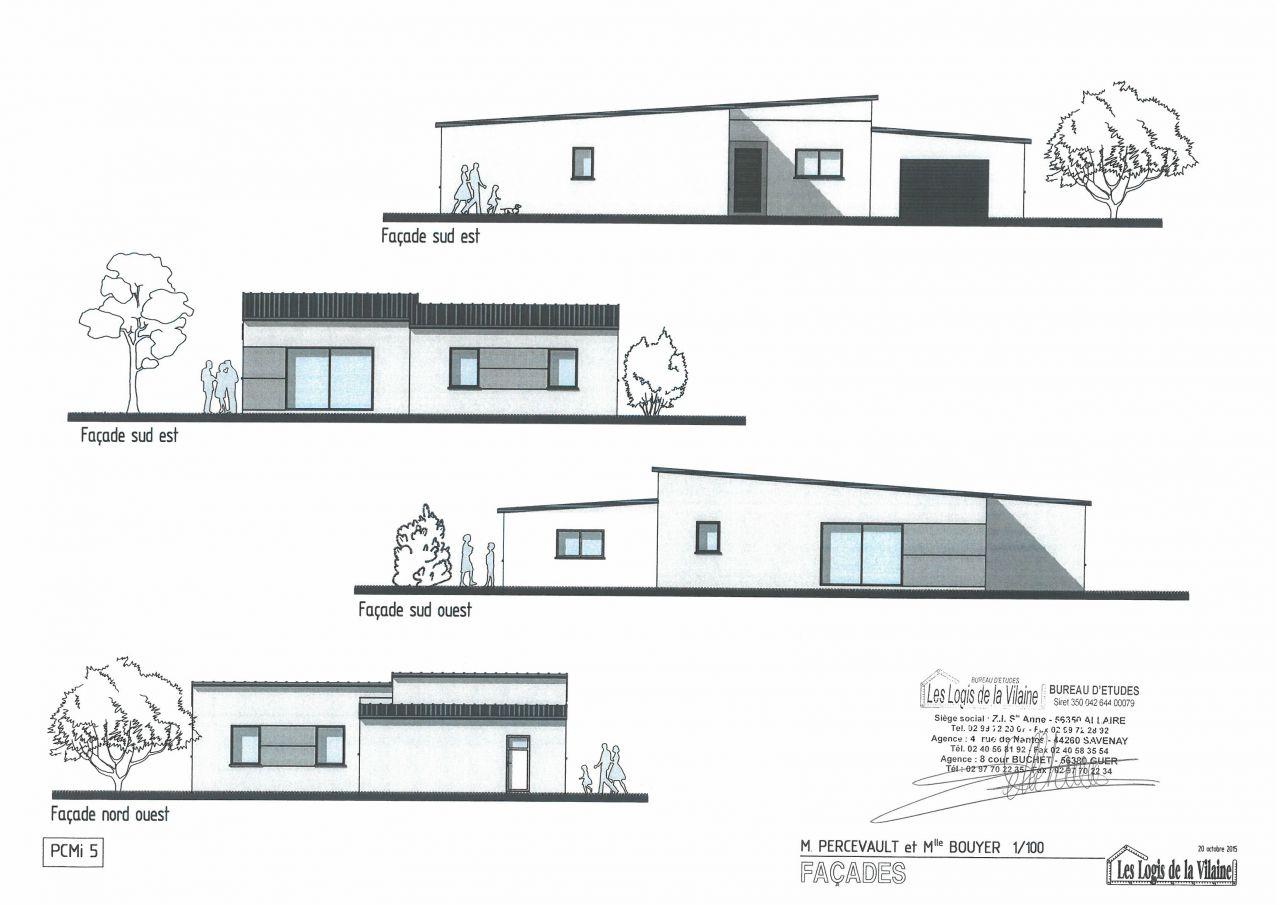 façades de la maison