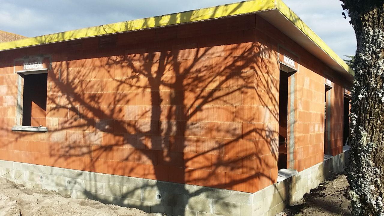 Vue Sud-Ouest <br /> Débord de toit PVC